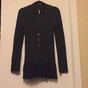 Free people button up cardigan